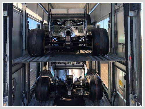 F1 car transport.
