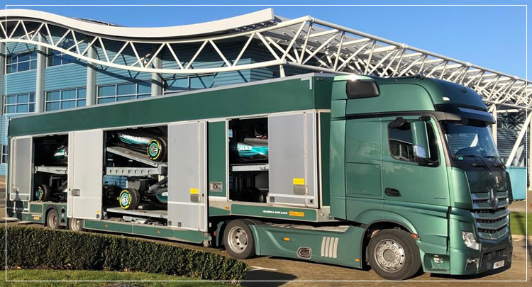 Mercedes F1 Championship winning car transport