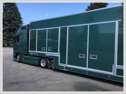 New Covered Car Transporter