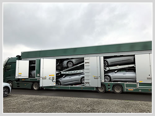Covered car transport for the VW Arteon.