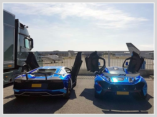 Supercar car transport to Turin.